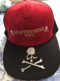 Mastermind World Embroidered Cap Red L size