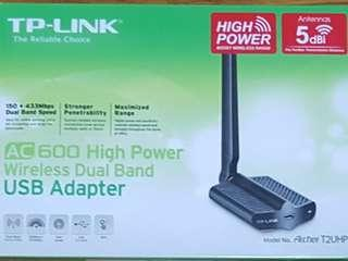 🚚 TP link AC600 High Power Wireless Dual Band USB Adapter