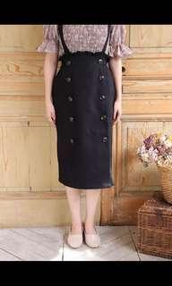 全新日系背帶裙