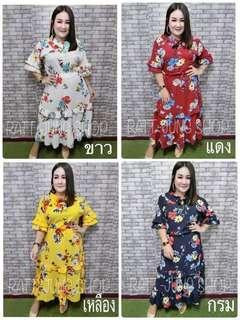 Plus size Flora red maxi long Dress