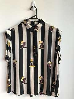 Monki Print Blouse