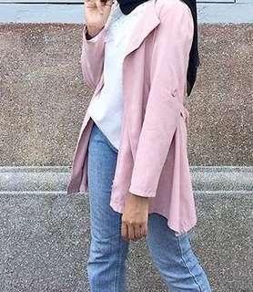 nude pink coat