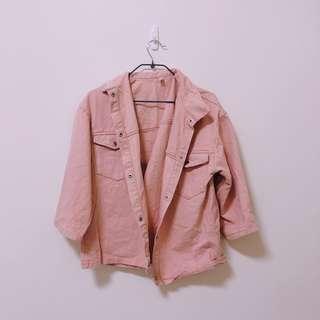 🚚 粉色牛仔外套