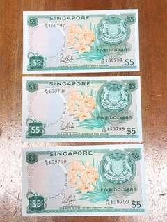 Orchid Series $5 UNC 3 runs