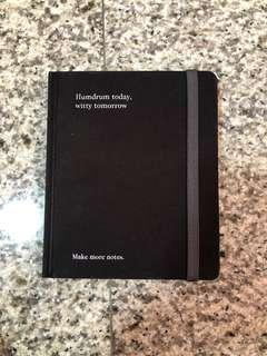 "🚚 Blank notebook ""humdrum today, witty tomorrow"" by page one"