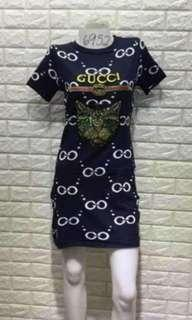 preloved gucci cat sequins knitted dress