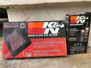 K&N Performance Air Filter and Charger Kit for Mazda Skyactiv