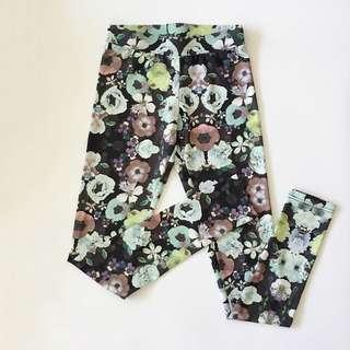 🚚 H&M Water Colour Floral Tights