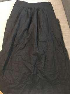 🚚 GAP 棉麻混紡系帶中長裙 全新