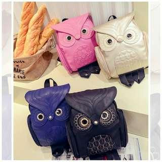WOMEN'S TRAVEL CASUAL MYSTERY OWL SHOULDER BACKPACK BAG