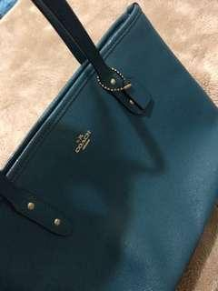 Coach Mini City Zip Tote Dark Teal