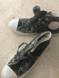 Converse high tops and slip ons