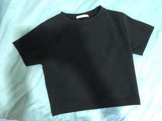 🚚 Plain Black Crop