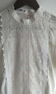Ivory vintage lace top