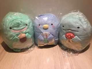 Large size New Sumikko Gurashi XL large plush toy real green Tokage, blue tokage, blue penguin