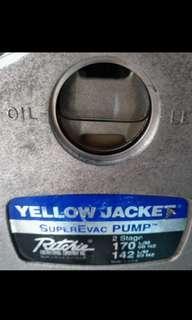生財工具 冷氣冷凍工程 大泵Yellow Jacker美國真空泵連雪種錶及喉套裝