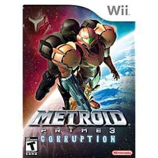 ORIG Wii Metroid Prime 3 Corruption