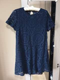 🚚 Short Navy Blue Dress
