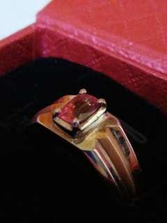 Padparadscha Saphhire 18k white/rose gold Ring