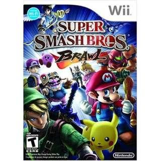 ORIG Wii Super Smashbros Brawl- Swipe photos