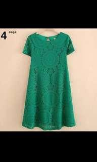 🚚 Mini Green Dress