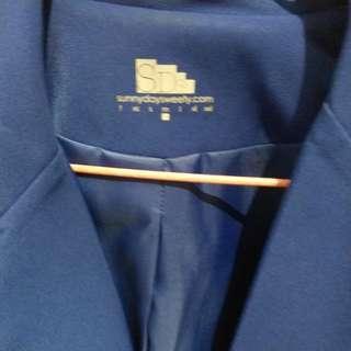 修身外套/ 西裝褸 stylish 型格/ navy/ 海藍色