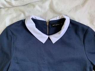 Dark blue Collar Dress