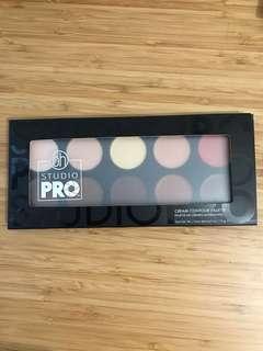 bh cosmetics cream contour palette