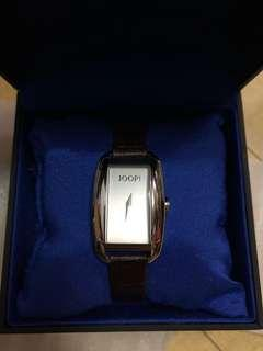 JOOP! Leather brown women watch new and real with box
