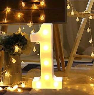 Number lights for rent