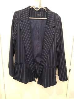 BEYOND HER (navy blue with white strip) blazer