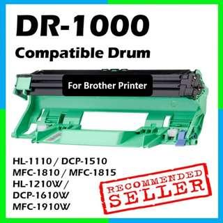 🚚 Compatible DR-1000 Drum Unit for Brother Printer DR1000 TN-1000 TN1000