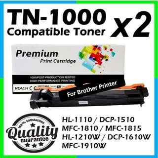 🚚 Compatible TN-1000 Black Toner Cartridge for Brother Printer TN1000