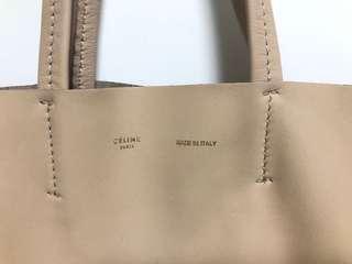 Celine tote cabas lambskin luggage belt leather nano