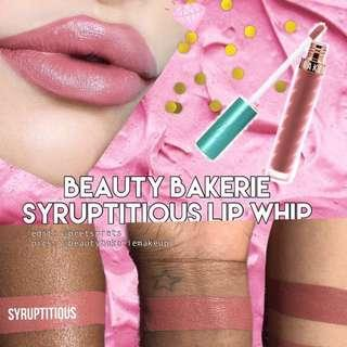 🚚 🧸無敵持久 英國正品 Beauty Bakerie Lip Whip 霧面液態唇膏 唇釉 #Syruptitious