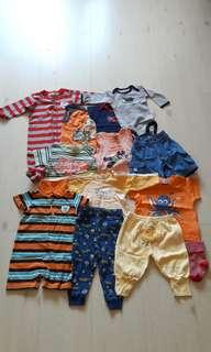 Bundle of 12 Preloved Baby Clothing (Fox Baby/Carter's/Poney)(0-6M)