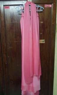 Chiffon Long Dress with Shawl