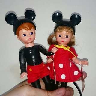 Alexander doll Disney Mickey and Minnie 白人黑人小朋友各一對