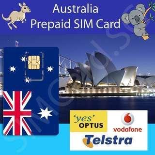 🚚 🇦🇺 Australia Prepaid Data SIM Card (Optus, Telstra and Vodafone)