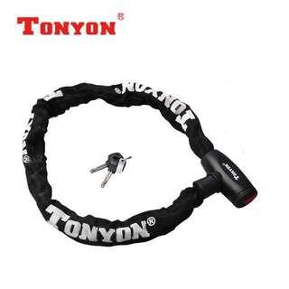 🚚 Tonyon TY715 Bicycle Steel Chain Lock With Keys 900mm