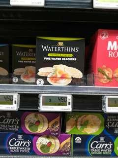 🚚 Waterthins healthy crackers almost fat free
