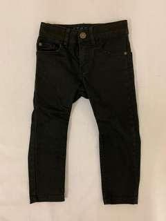 H&M pants black 90%new 黑長褲 90cm