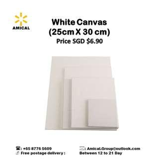 White Canvas (25cm X 30cm)