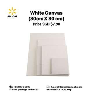 White Canvas (30 cm X 30 cm)