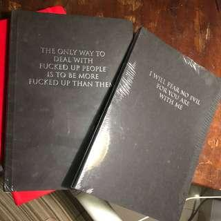 Black plain notebook @blackbook_jkt