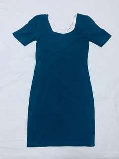 Forever 21 Scoop Back Bodycon Mini Dress