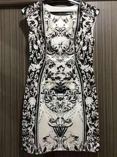 Bodycon Monochrome Dress