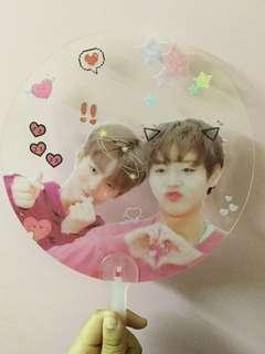 WANNA ONE W1 WINKDEEP BAE JINYOUNG PARK JIHOON TRANSPARENT FAN