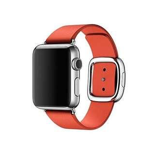 [ORIGINAL] Apple Watch Modern Buckle Leather Strap 38mm 40mm - Red