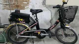 electric bike with charger..